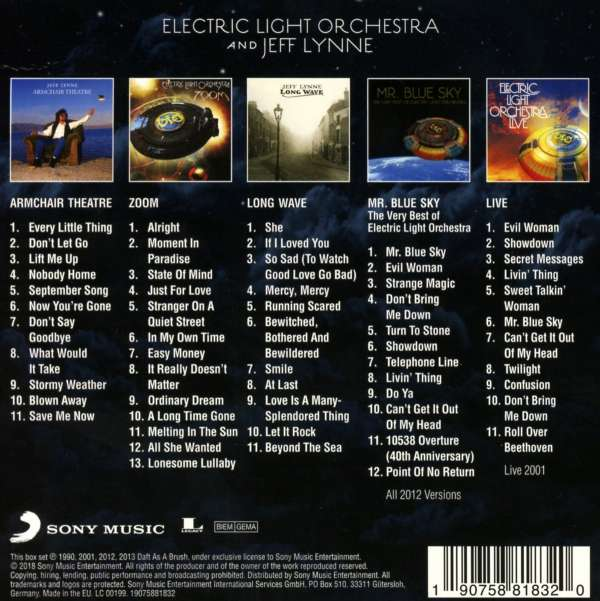 Electric Light Orchestra Original Album Classics 5 Cds
