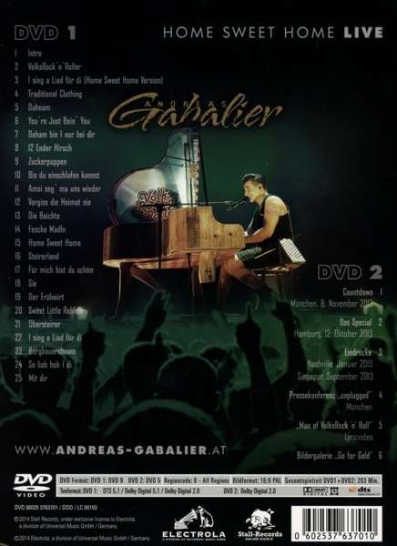 Andreas Gabalier Home Sweet Home Live Olympiahalle