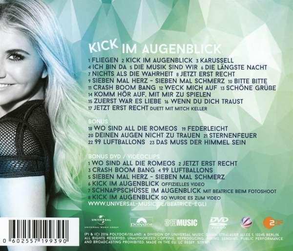 Beatrice Egli Kick Im Augenblick Deluxe Fan Edition 1 Cd Und 1 Dvd Jpc