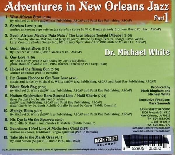 Dr Michael White Adventures In New Orleans Jazz Cd Jpc