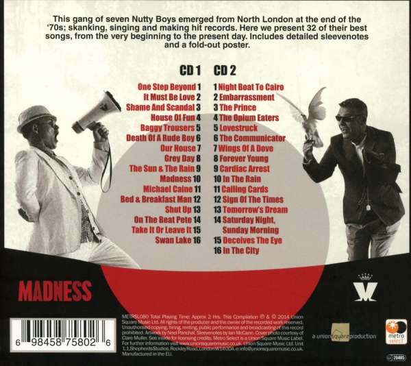 Madness The Very Best Of Madness 2 Cds Jpc