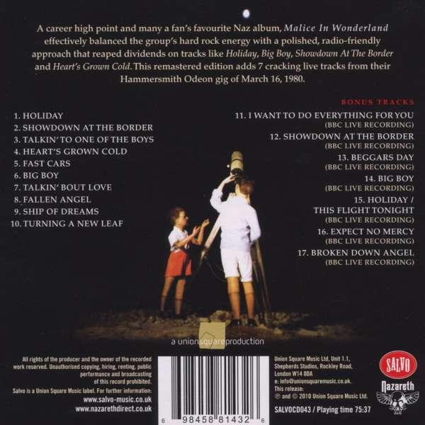 Nazareth Malice In Wonderland Loud Proud Amp Remastered