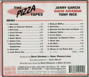 Jerry Garcia David Grisman Amp Tony Rice The Pizza Tapes