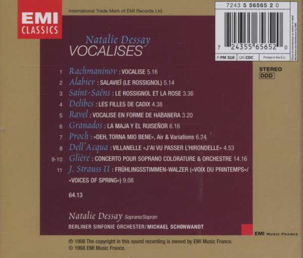 vocalise rachmaninoff - natalie dessay Vocalise ( rachmaninov) : natalie dessay verbier festival 2008 yuja wang / rachmaninoff :vocalise megasan2008 mischa maisky rachmaninoff - vocalise bluice01.