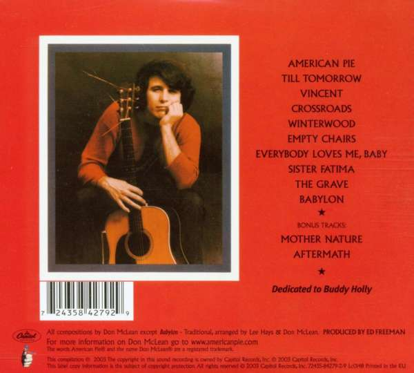 don mclean american pie digipack cd jpc. Black Bedroom Furniture Sets. Home Design Ideas