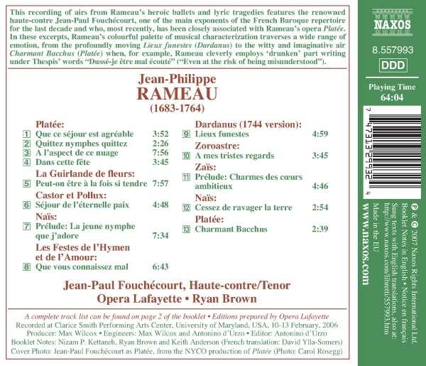 Jean Philippe Rameau Opernarien Cd Jpc