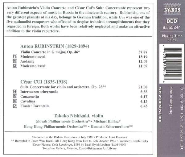 Anton Rubinstein: Violinkonzert G-dur op 46