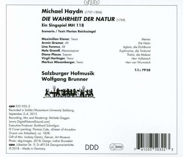 Michael Haydn: Die Wahrheit der Natur (Oratorium) (CD) – jpc