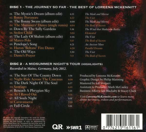 Loreena McKennitt: The Journey So Far - The Best Of Loreena McKennitt  (Deluxe-Edition)