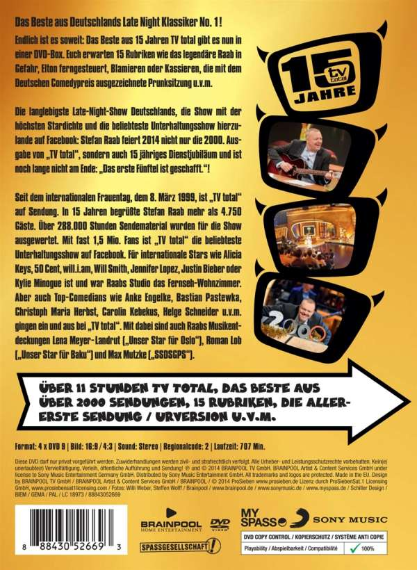 15 Jahre Tv Total Dvd