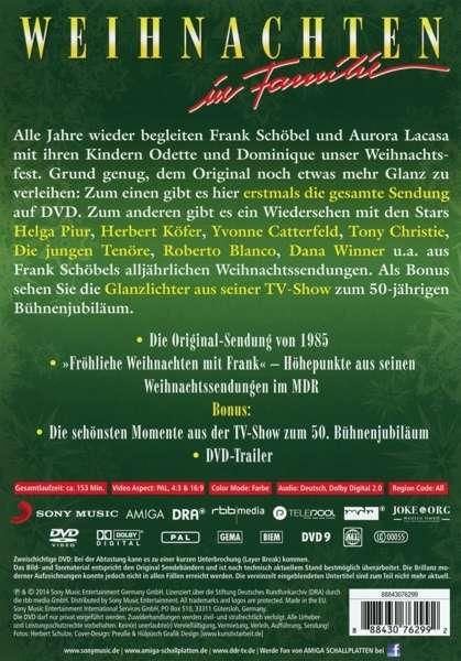 Frank Schöbel: Weihnachten in Familie: Die Original TV Show (DVD) – jpc