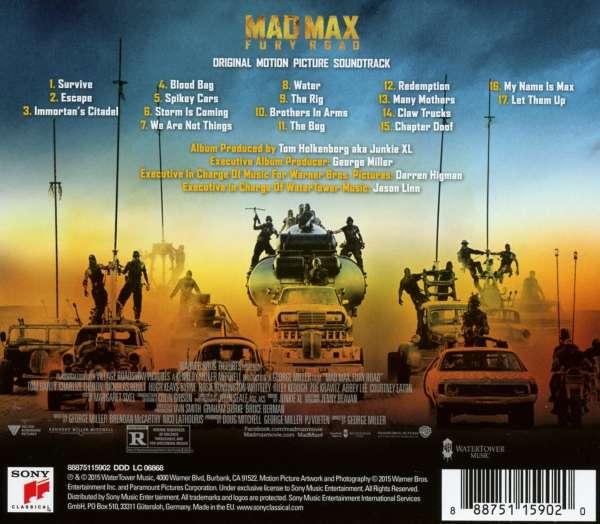 filmmusik mad max fury road cd jpc. Black Bedroom Furniture Sets. Home Design Ideas