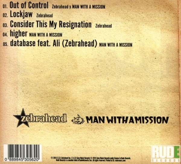 Zebrahead Vs Man With A Mission Out Of Control Cd Jpc