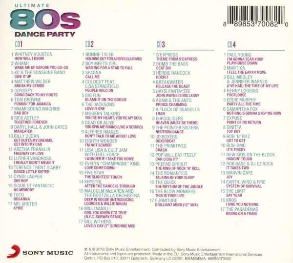 Ultimate 80s 4 Cds Jpc - Imagez co