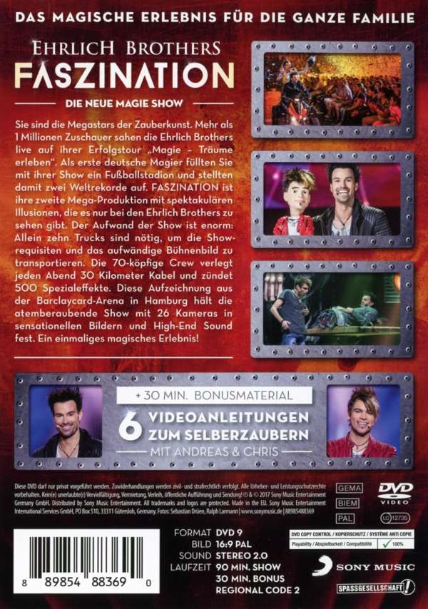 Ehrlich Brothers Dvd