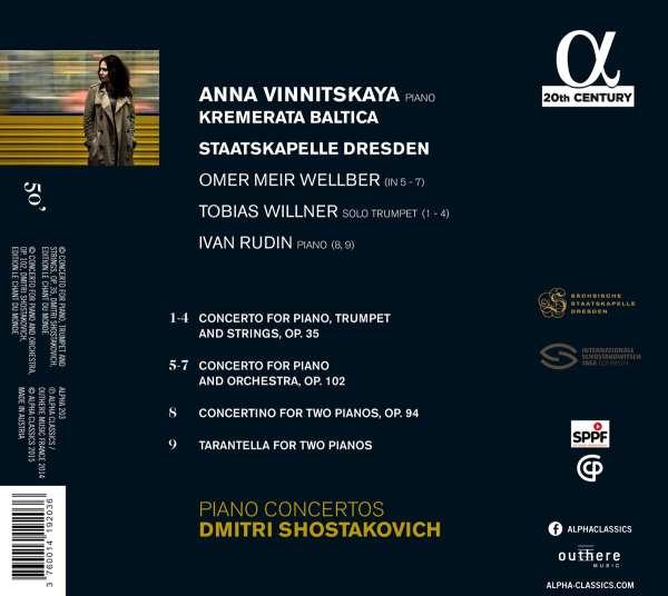 Dmitri Schostakowitsch: Klavierkonzerte Nr 1 & 2