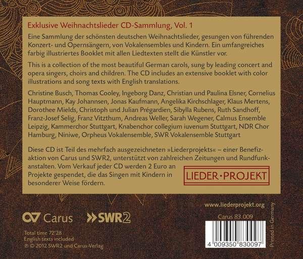 Jonas Kaufmann Weihnachtslieder.Weihnachtslieder Vol 1