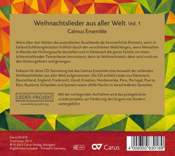 Weihnachtslieder aus aller Welt Vol.1 (CD) – jpc