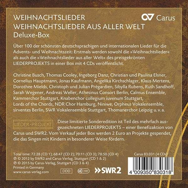 Weihnachtslieder Cd.Weihnachtslieder Weihnachtslieder Aus Aller Welt Carus Liederprojekt