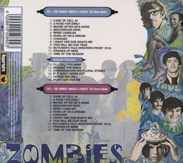 The Zombies Odessey Amp Oracle Anniversary Edition 2 Cds