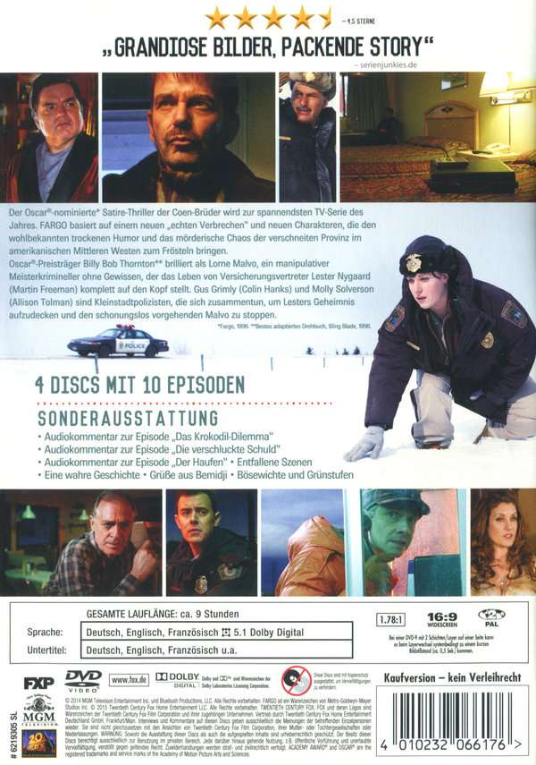 Fargo Staffel 1 4 Dvds Jpc