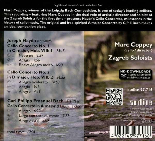 Joseph Haydn Cellokonzerte Nr 1 2 Cd Jpc
