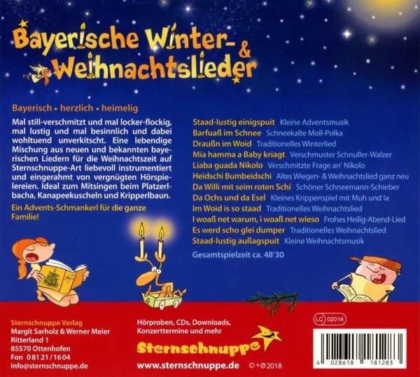 Weihnachtslieder Cd.Sternschnuppe Bayerische Winter Und Weihnachtslieder