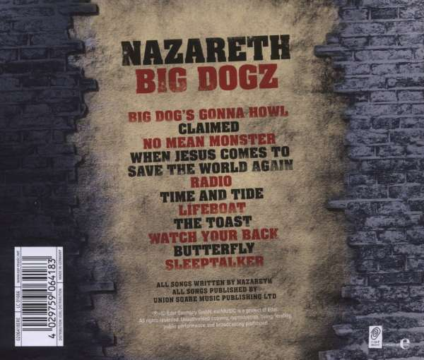 Nazareth Big Dogz Cd Jpc
