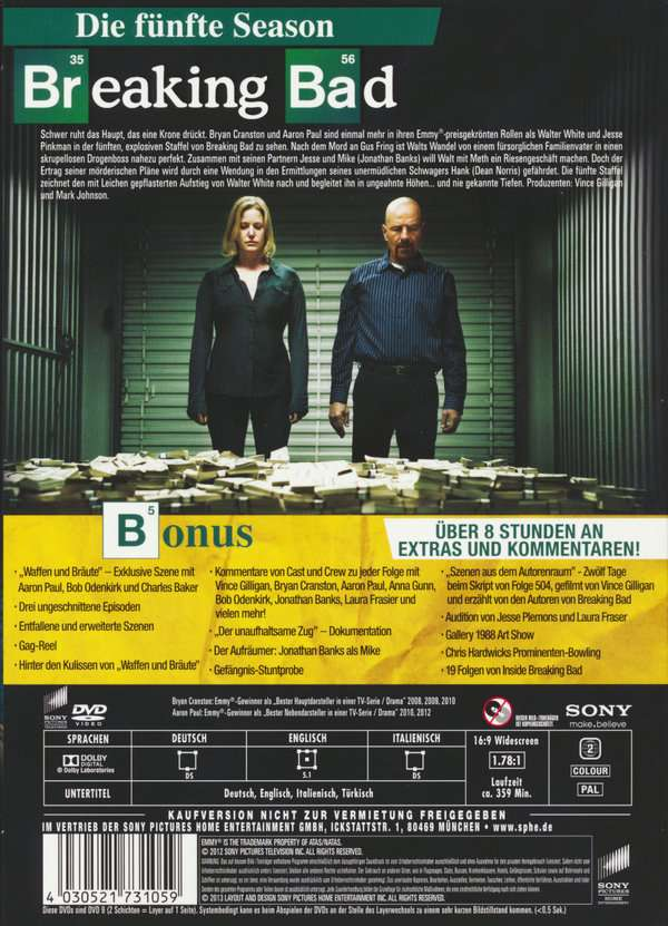 breaking bad season 5 box 1 3 dvds jpc. Black Bedroom Furniture Sets. Home Design Ideas