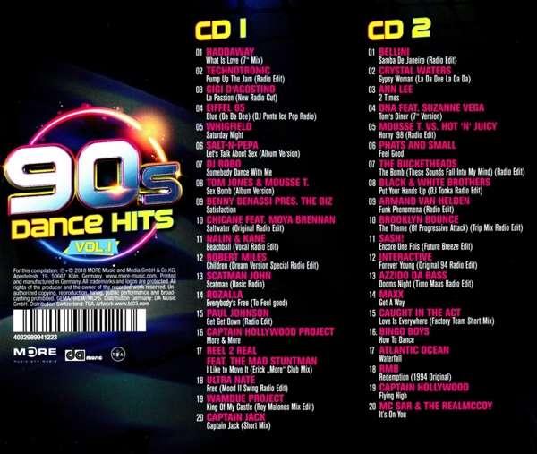 90s Dance Hits Vol 1 2 Cds Jpc