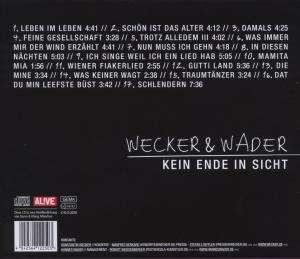 Konstantin Wecker & Hannes Wader: Kein Ende in Sicht, CD (Rückseite)