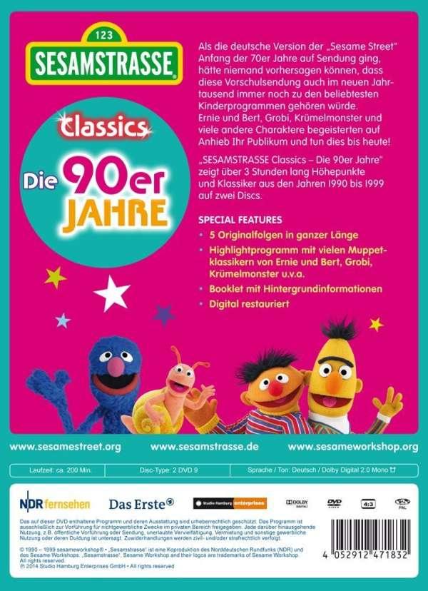 b90d00c254 Sesamstrasse Classics: Die 90er Jahre (2 DVDs) – jpc
