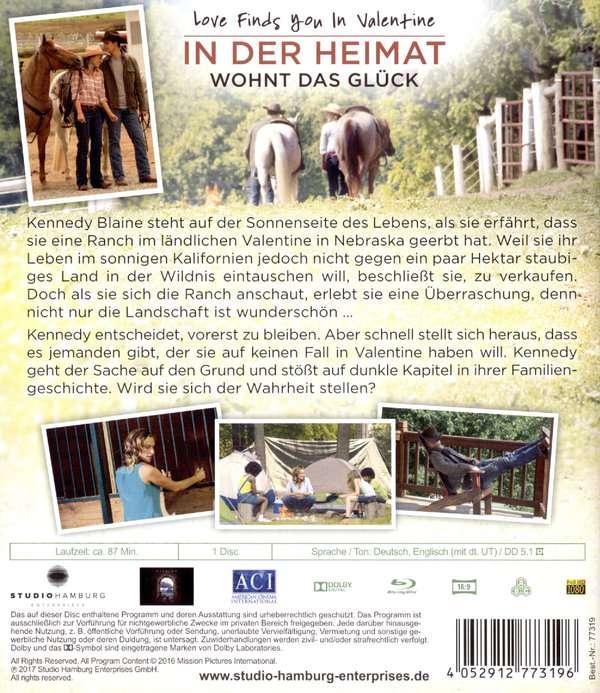 Love Finds You In Valentine In Der Heimat Wohnt Das Gluck Blu Ray Jpc