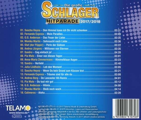 Foyer Des Arts Hitparade : Die große schlager hitparade cd jpc