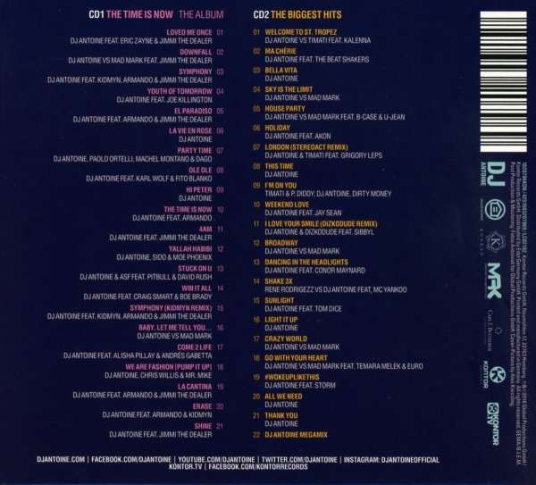 Dj Antoine The Time Is Now 2 Cds Jpc