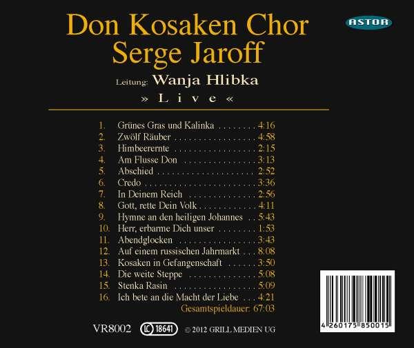 Don Kosaken Chor Serge Jaroff Live Cd Jpc