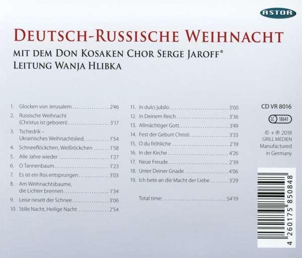 Don Kosaken Chor Serge Jaroff Deutsch Russische Weihnacht Cd Jpc