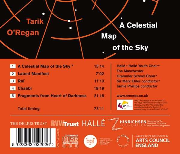 Tarik O'Regan: A Celestial Map of the Sky (CD) – jpc on