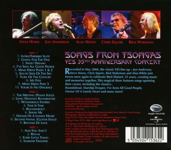 Yes: Songs From Tsongas: 35th Anniversary Concert 2004