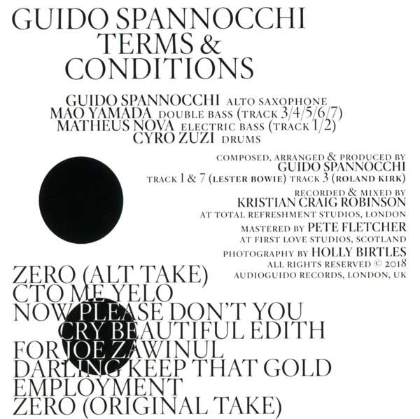 Guido Spannocchi: Terms & Conditions (CD) – jpc