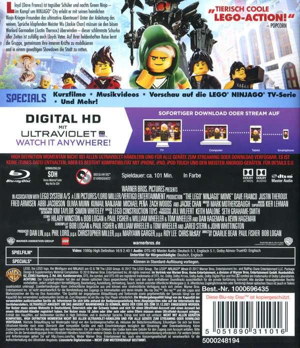 The Lego Ninjago Movie Blu Ray