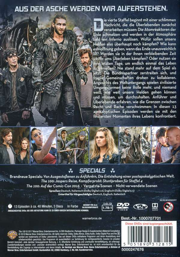 The 100 Staffel 4 Dvd