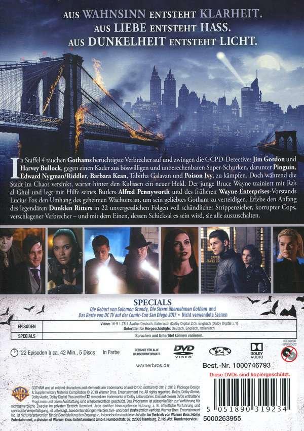 Gotham Staffel 4 Dvd Deutsch