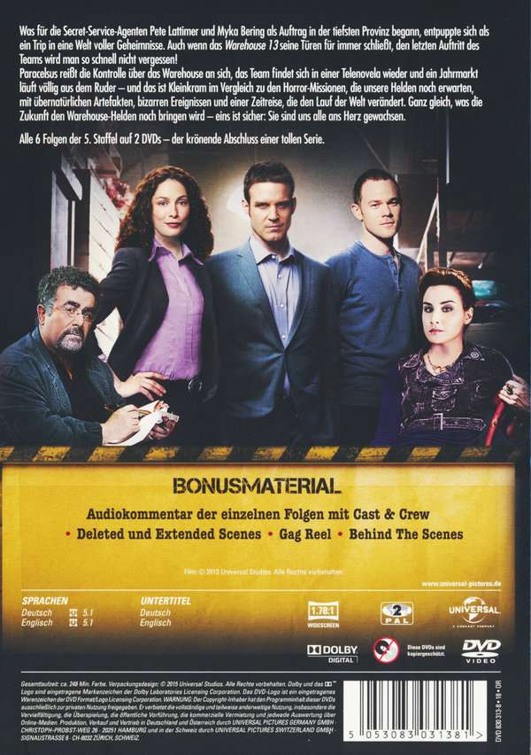 Warehouse 13 Staffel 2