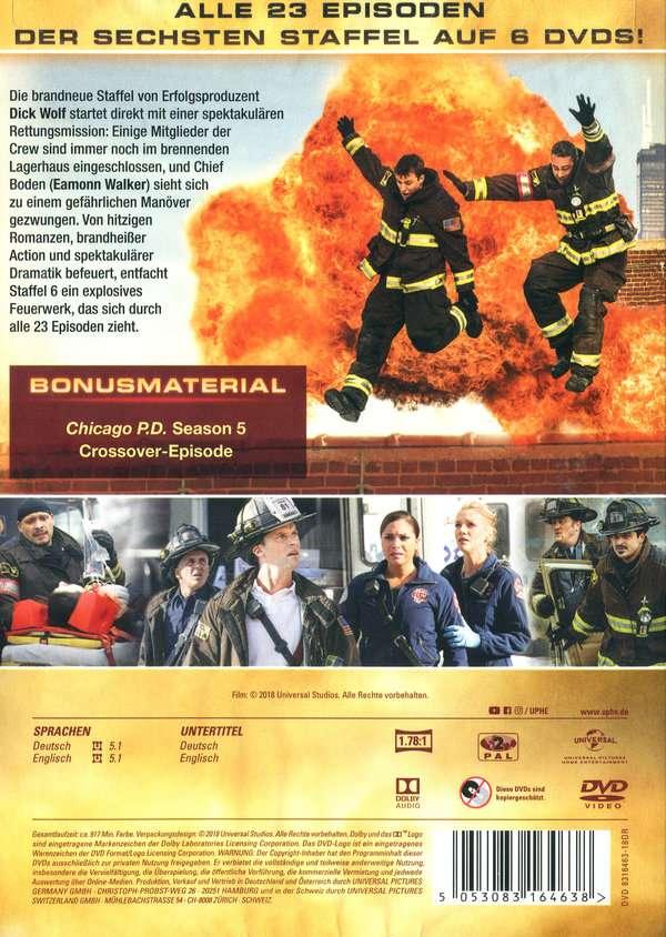 Chicago Fire Staffel 5 Dvd