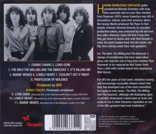 Ufo The Wild The Willing And The Innocent Cd Jpc