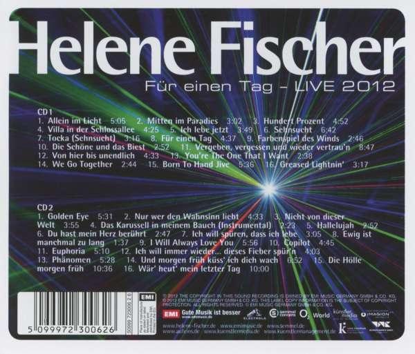 Helene Fischer Fur Einen Tag Live 2 Cds Jpc
