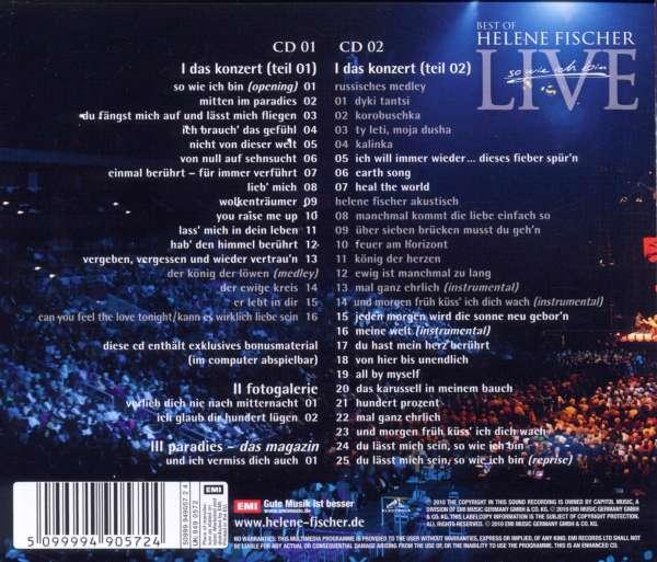 Helene Fischer: Best Of Live - So wie ich bin