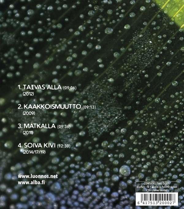 Ilari Hongisto: Luonnos, 1 CD und 1 Blu-ray Audio (Rückseite)