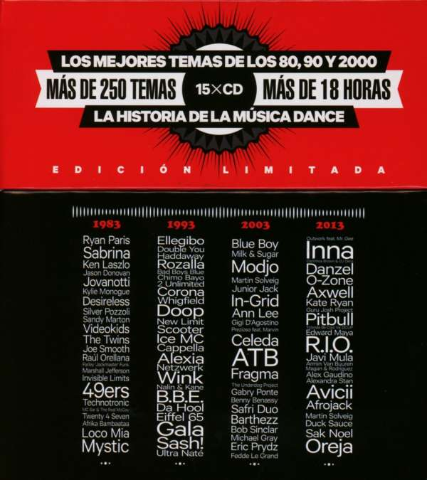 30 Years Of Dance Music Blanco Y Negro 15 Cds Jpc